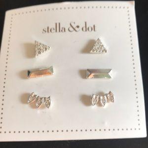 Stella & Dot 3 Sets is Earrings NEW